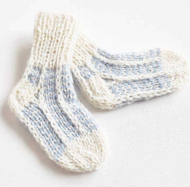 Vilnonės kojinytės naujagimiui