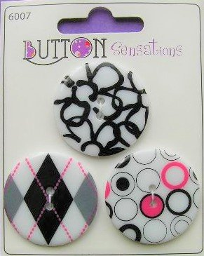 Sensation Buttons: Black and White